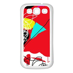 Colorful abstraction Samsung Galaxy S3 Back Case (White)