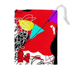 Colorful abstraction Drawstring Pouches (Extra Large)
