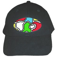 Colorful abtraction Black Cap
