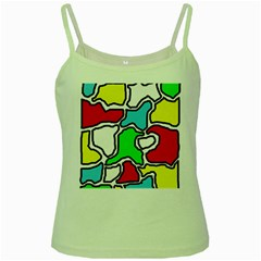Colorful abtraction Green Spaghetti Tank