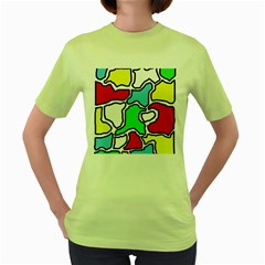 Colorful abtraction Women s Green T-Shirt