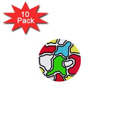 Colorful abtraction 1  Mini Buttons (10 pack)