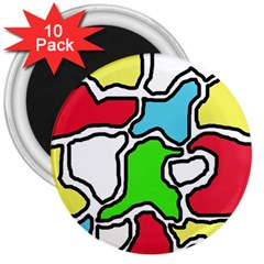 Colorful abtraction 3  Magnets (10 pack)