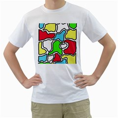 Colorful abtraction Men s T-Shirt (White) (Two Sided)