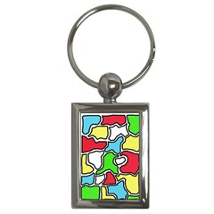 Colorful abtraction Key Chains (Rectangle)