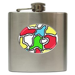 Colorful abtraction Hip Flask (6 oz)