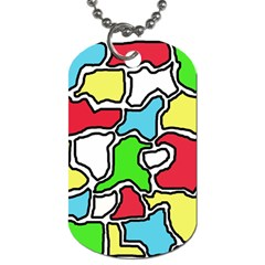 Colorful abtraction Dog Tag (Two Sides)