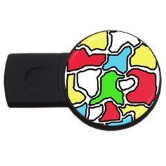 Colorful abtraction USB Flash Drive Round (2 GB)