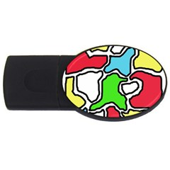 Colorful abtraction USB Flash Drive Oval (1 GB)
