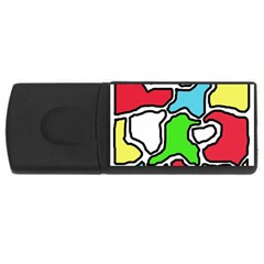 Colorful abtraction USB Flash Drive Rectangular (2 GB)