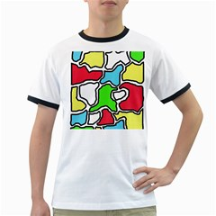 Colorful abtraction Ringer T-Shirts