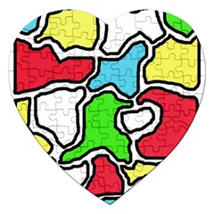 Colorful abtraction Jigsaw Puzzle (Heart)
