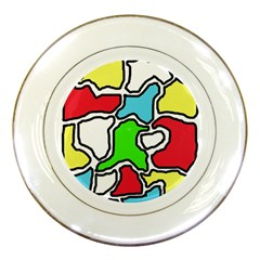 Colorful abtraction Porcelain Plates