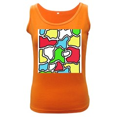 Colorful abtraction Women s Dark Tank Top