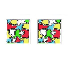 Colorful abtraction Cufflinks (Square)