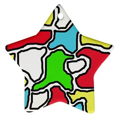 Colorful abtraction Star Ornament (Two Sides)