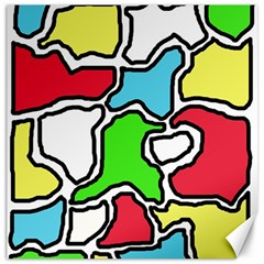 Colorful abtraction Canvas 12  x 12
