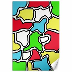 Colorful abtraction Canvas 20  x 30