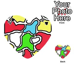 Colorful Abtraction Playing Cards 54 (heart)