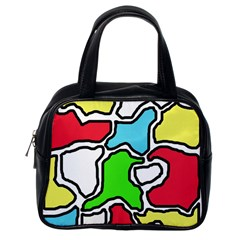 Colorful abtraction Classic Handbags (One Side)
