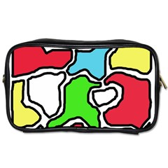 Colorful abtraction Toiletries Bags 2-Side