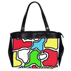 Colorful Abtraction Office Handbags (2 Sides)