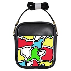 Colorful abtraction Girls Sling Bags
