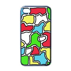 Colorful abtraction Apple iPhone 4 Case (Black)