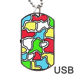 Colorful abtraction Dog Tag USB Flash (Two Sides)
