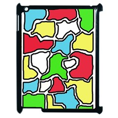 Colorful abtraction Apple iPad 2 Case (Black)