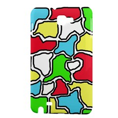 Colorful abtraction Samsung Galaxy Note 1 Hardshell Case