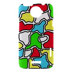 Colorful abtraction HTC One X Hardshell Case