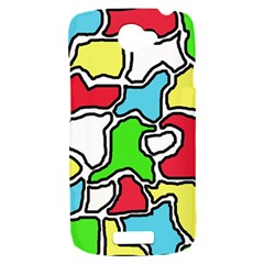 Colorful abtraction HTC One S Hardshell Case