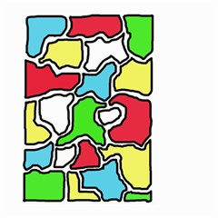 Colorful abtraction Large Garden Flag (Two Sides)