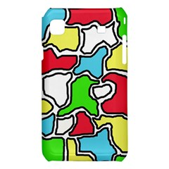 Colorful abtraction Samsung Galaxy S i9008 Hardshell Case