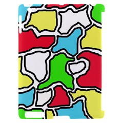 Colorful abtraction Apple iPad 2 Hardshell Case (Compatible with Smart Cover)