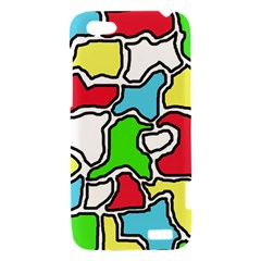Colorful abtraction HTC One V Hardshell Case