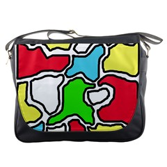 Colorful abtraction Messenger Bags