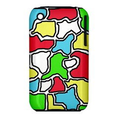 Colorful abtraction Apple iPhone 3G/3GS Hardshell Case (PC+Silicone)