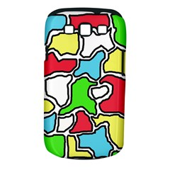 Colorful abtraction Samsung Galaxy S III Classic Hardshell Case (PC+Silicone)