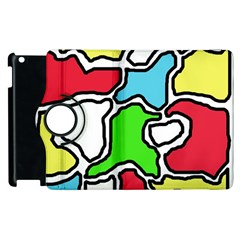 Colorful abtraction Apple iPad 3/4 Flip 360 Case