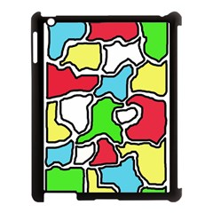 Colorful abtraction Apple iPad 3/4 Case (Black)