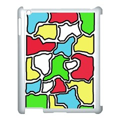Colorful abtraction Apple iPad 3/4 Case (White)
