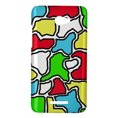 Colorful abtraction HTC Butterfly X920E Hardshell Case