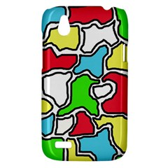 Colorful abtraction HTC Desire V (T328W) Hardshell Case