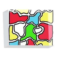 Colorful abtraction 5 x 7  Acrylic Photo Blocks