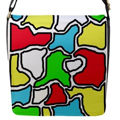Colorful abtraction Flap Messenger Bag (S)