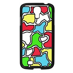 Colorful abtraction Samsung Galaxy S4 I9500/ I9505 Case (Black)