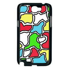 Colorful abtraction Samsung Galaxy Note 2 Case (Black)