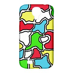 Colorful abtraction Samsung Galaxy S4 Classic Hardshell Case (PC+Silicone)